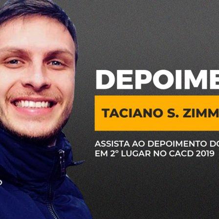 Taciano Zimmermann, 2º lugar geral no CACD 2019